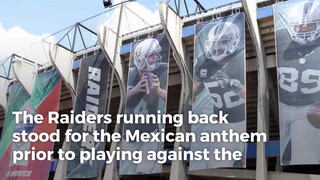 Raiders' Marshawn Lynch stands for Mexican anthem, sits for U.S. anthem