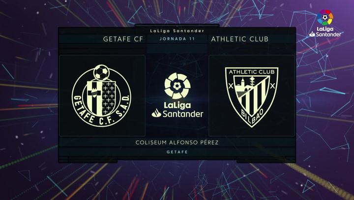 LaLiga Santander (J11): Resumen y goles del Getafe 1-1 Athletic