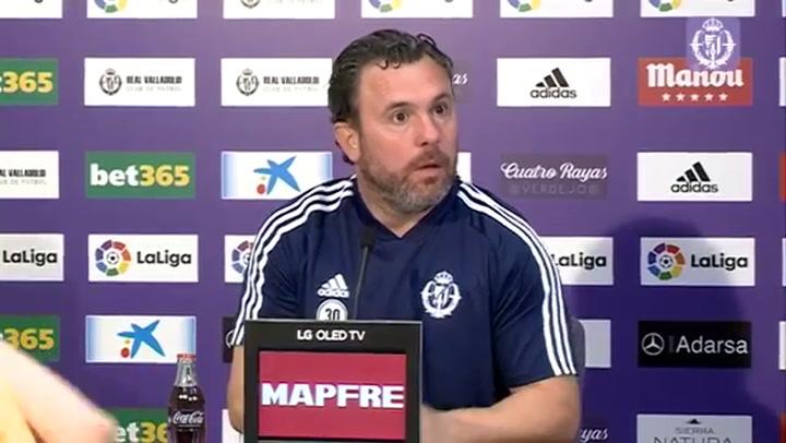 Rueda de prensa del entrenador del Valladolid, Sergio González