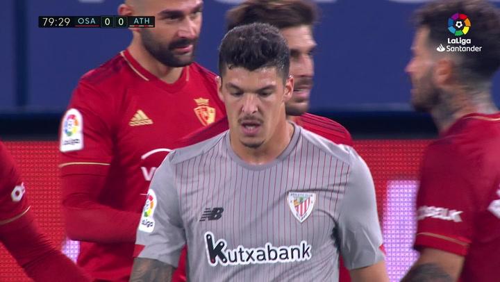 Gol de Rubén García (p.) (1-0) en el Osasuna 1-0 Athletic Club