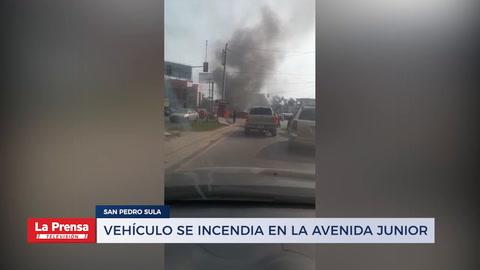 Unidad de transporte se incendia en la avenifa Junior