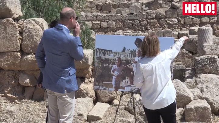 Duke Of Cambridge Visits Jerash Archaelogical Site In Jordan