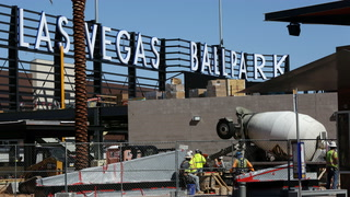 Las Vegas Ballpark signage goes up