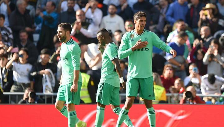 La curiosa dedicatoria de Varane tras marcarle al Espanyol