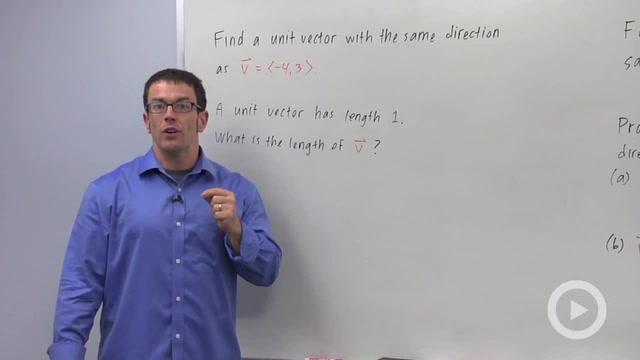 Unit Vectors - Problem 2