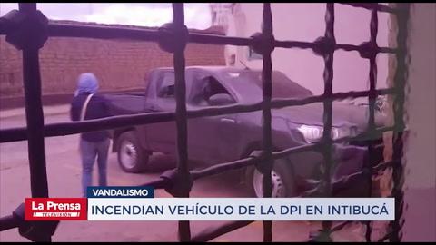 Incendian vehículo de la DPI en Intibucá