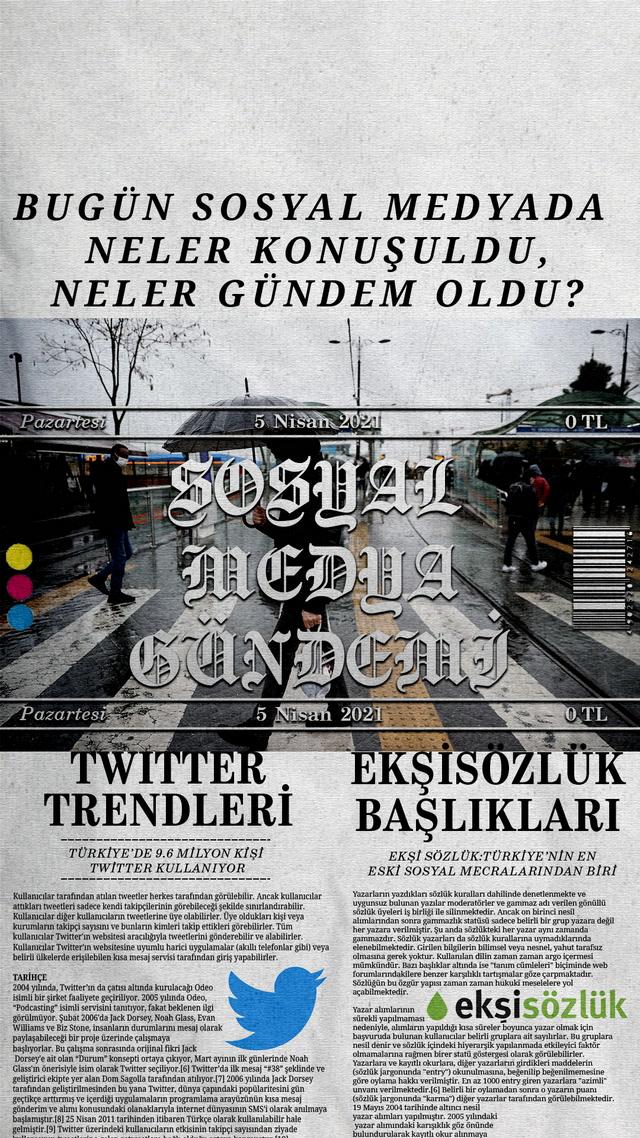 Sosyal medyayı sallayanlar - 5 Nisan