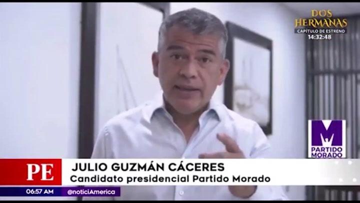 """Julio Guzmán:"""" La gente tiene que decir si quiere o no una nueva constitución"""""""