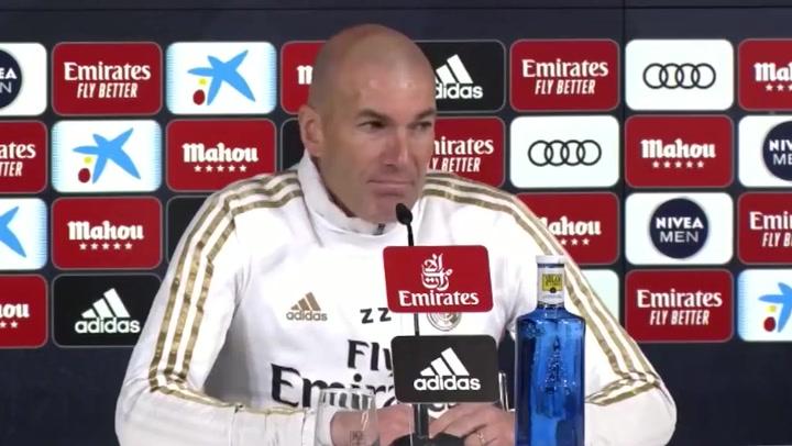 """Zidane:""""¿Los 1.000 pases del Barça? Todos los equipos quieren ganar y cada uno tiene su forma de hacerlo"""""""