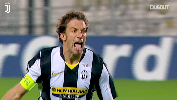 Del Piero's wonder strike stuns Real Madrid