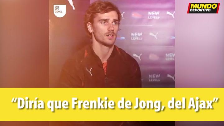 "Griezmann: ""De Jong es el mejor jugador al que me he enfrentado"""