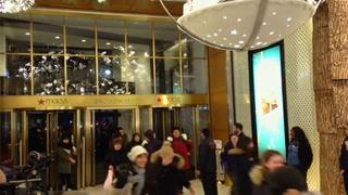 Shoppers wait for deals