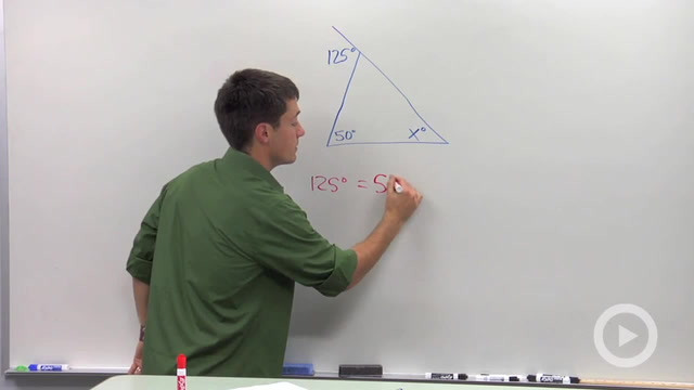 Remote Interior Angles - Problem 2