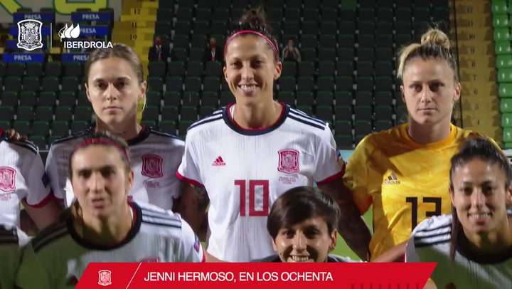 Jenni Hermoso cumple 80 partidos con la Selección española de fútbol