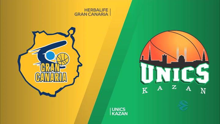 Resumen del Herbalife Gran Canaria - UNICS Kazan de la EuroCup