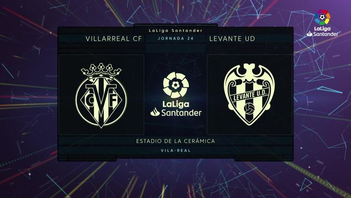 LaLiga (J24): Resumen y goles del Villarreal 2-1 Levante