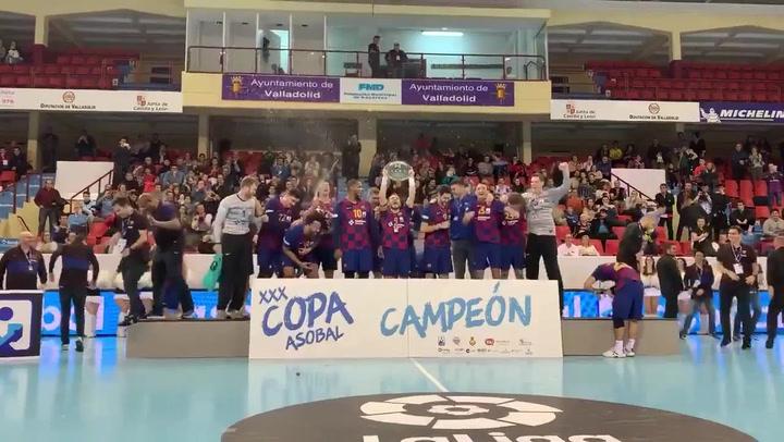 El Barça logra su novena Copa ASOBAL consecutiva