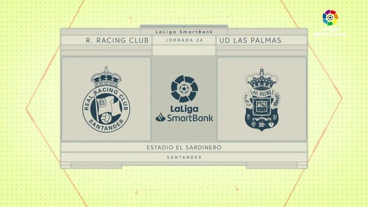 LaLiga SmartBank (J24): Resumen y goles del Racing 1-1 Las Palmas