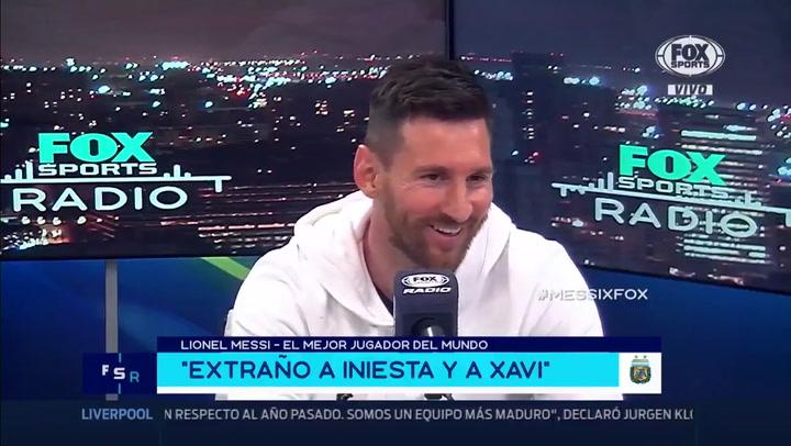 Messi desveló que tiene un grupo de Whatsapp con Suárez y Neymar, además de defender a Suárez por la operación