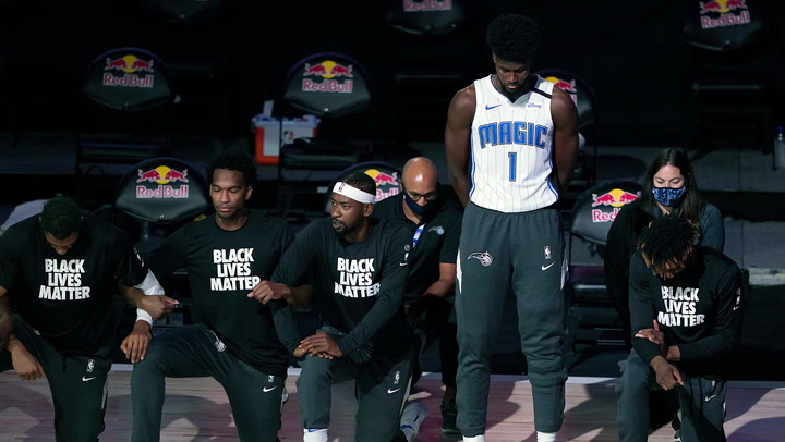 Jonathan Isaac First Nba Player To Stands For National Anthem Since Restart Sports Illustrated