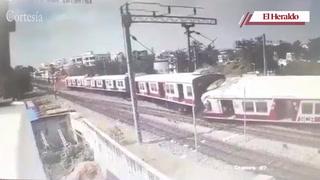 Trenes chocan frontalmente y deja varios heridos en la India
