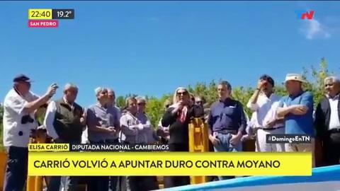 Carrió volvió a embestir contra Moyano:Es el peor criminal de la Argentina