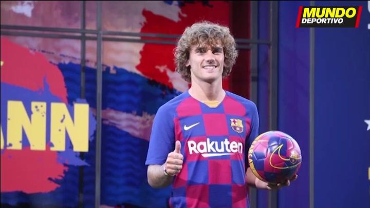 Presentación de Antoine Griezmann como nuevo futbolista del Barça