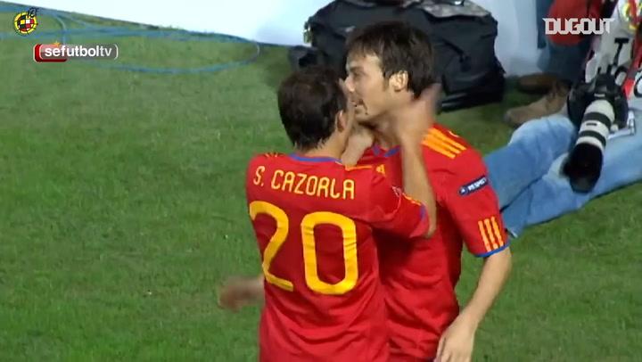 David Silva's impressive header goal vs Lithuania
