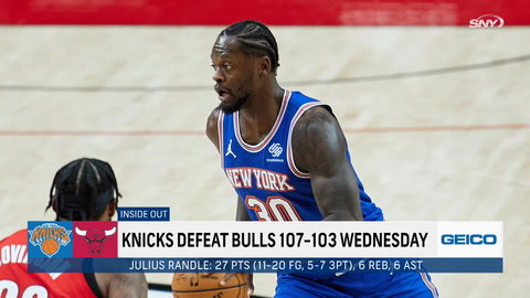 What changed from Monday to Wednesday for Knicks to turn around and beat Bulls?