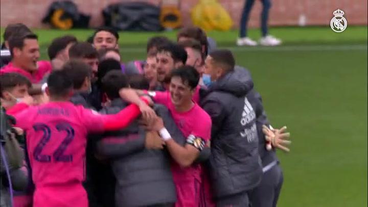 El Real Madrid Castilla gana al Talavera (2-4) y jugará el ascenso a Segunda