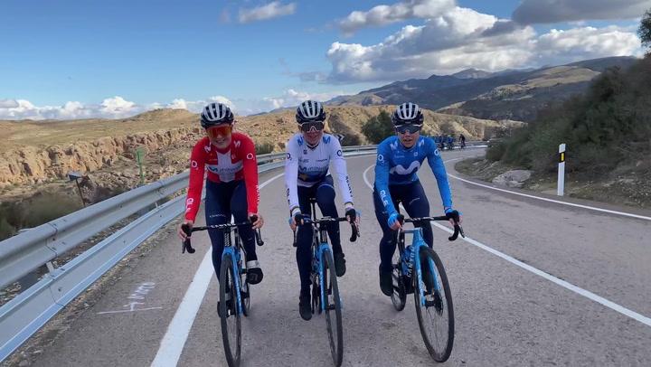 El equipo ciclista Movistar afronta con ilusión su temporada más ambiciosa