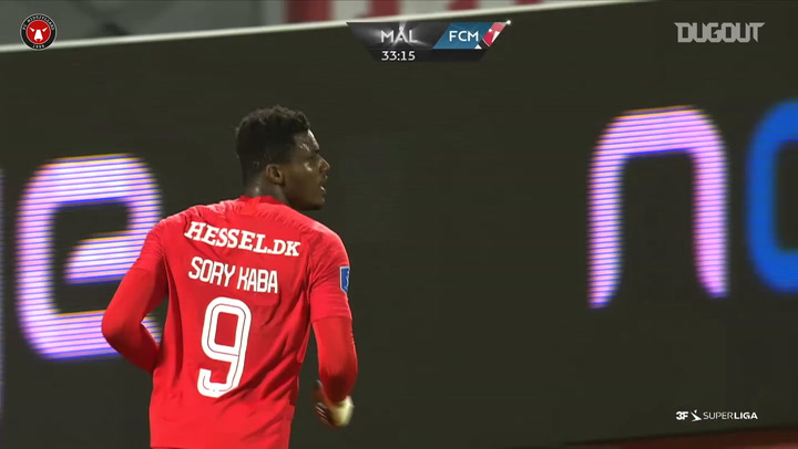 Sory Kaba fires home winning goal vs AGF Aarhus