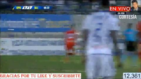 Axel Gómez hace el 0-2 para Olimpia ante los Lobos del UPNFM