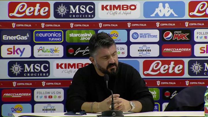 """Gattuso: """"Napoli, che fatica contro l'Empoli"""""""