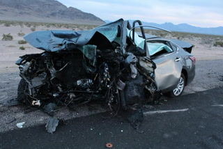 Fiery crash on US 95 northwest of Las Vegas kills 5