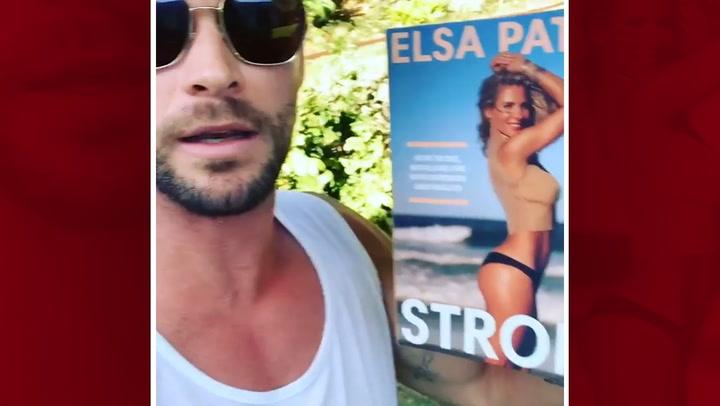 La divertida opinión de Chris Hemsworth sobre el nuevo libro de Elsa Pataky