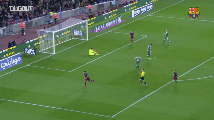 Luis Suarez's superb finish vs Eibar