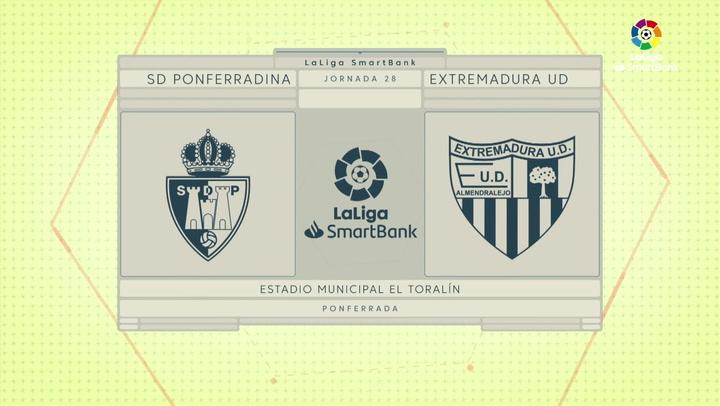 LaLiga SmartBank (J28): Resumen del Ponferradina 0-0 Extremadura
