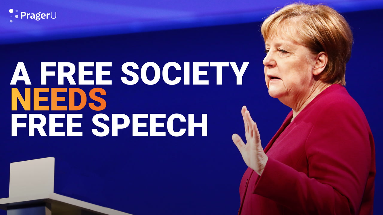 A Free Society Needs Free Speech