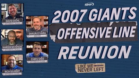 Like We Never Left: The 2007 Giants offensive line gets back together