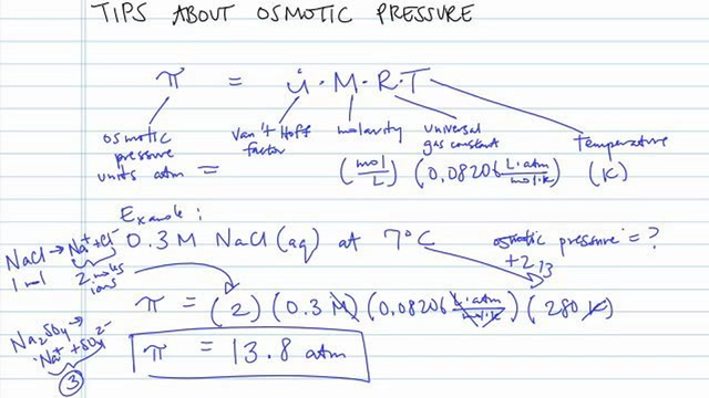 Tips About Osmotic Pressure