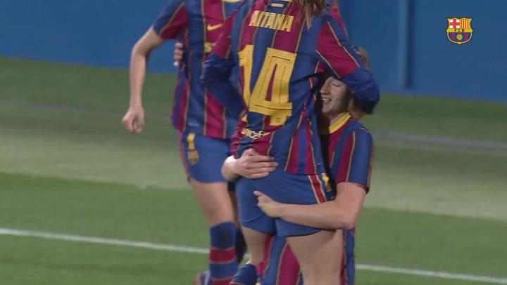 Resumen del Barça Femenino - PSV de Champions (4-1)