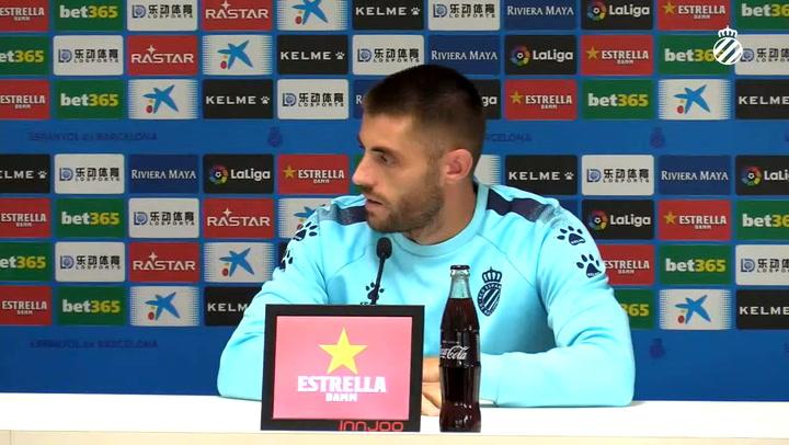 La rueda de prensa de David López (Espanyol)