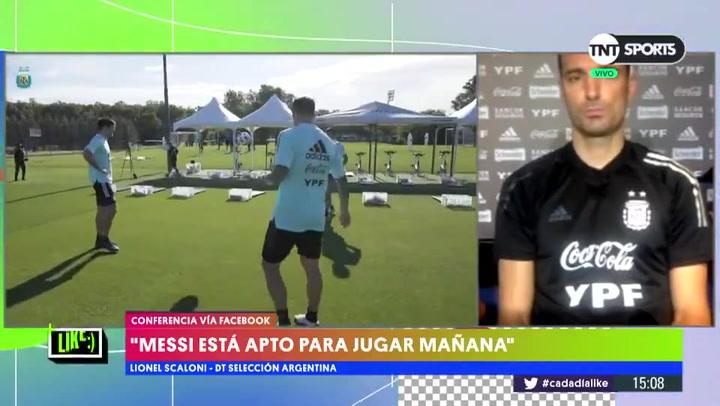 Scaloni confirma a Messi y ubica a Di María