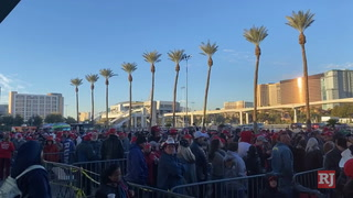 A look at supporters in line for Trump's Las Vegas rally