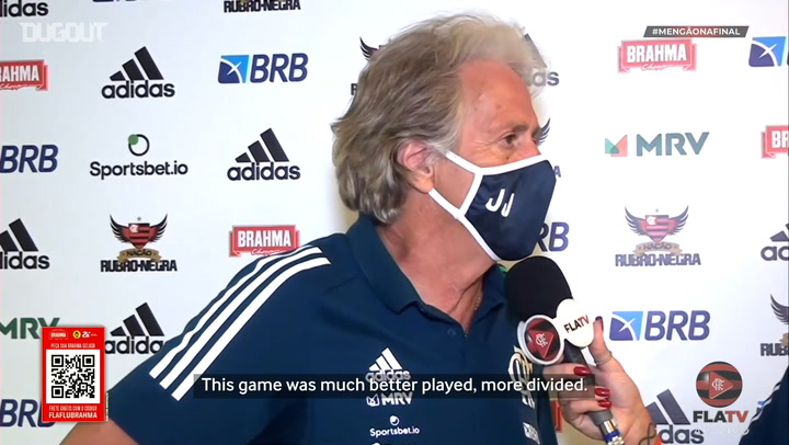 Jorge Jesus celebrates victory and complains about Gabriel's red card