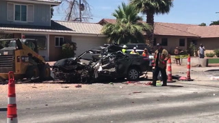 Car Crash near Las Vegas Golf Club – VIDEO