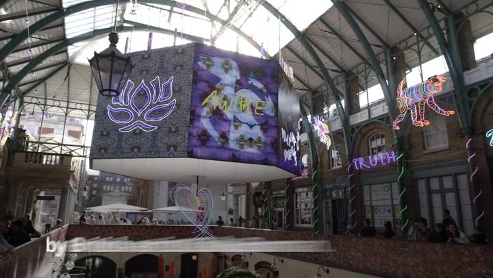 'Kaleidoscopic' light installation takes over London's Covent Garden