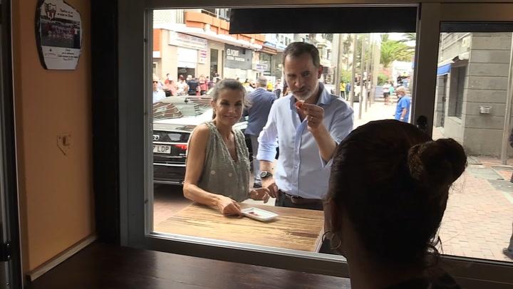 La curiosa anécdota de los reyes Felipe y Letizia en un bar de Las Palmas que ha llamado la atención