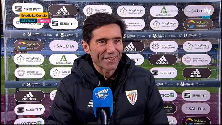 """Marcelino: """"Una parte importante de esta Copa es también del cuerpo técnico anterior"""""""